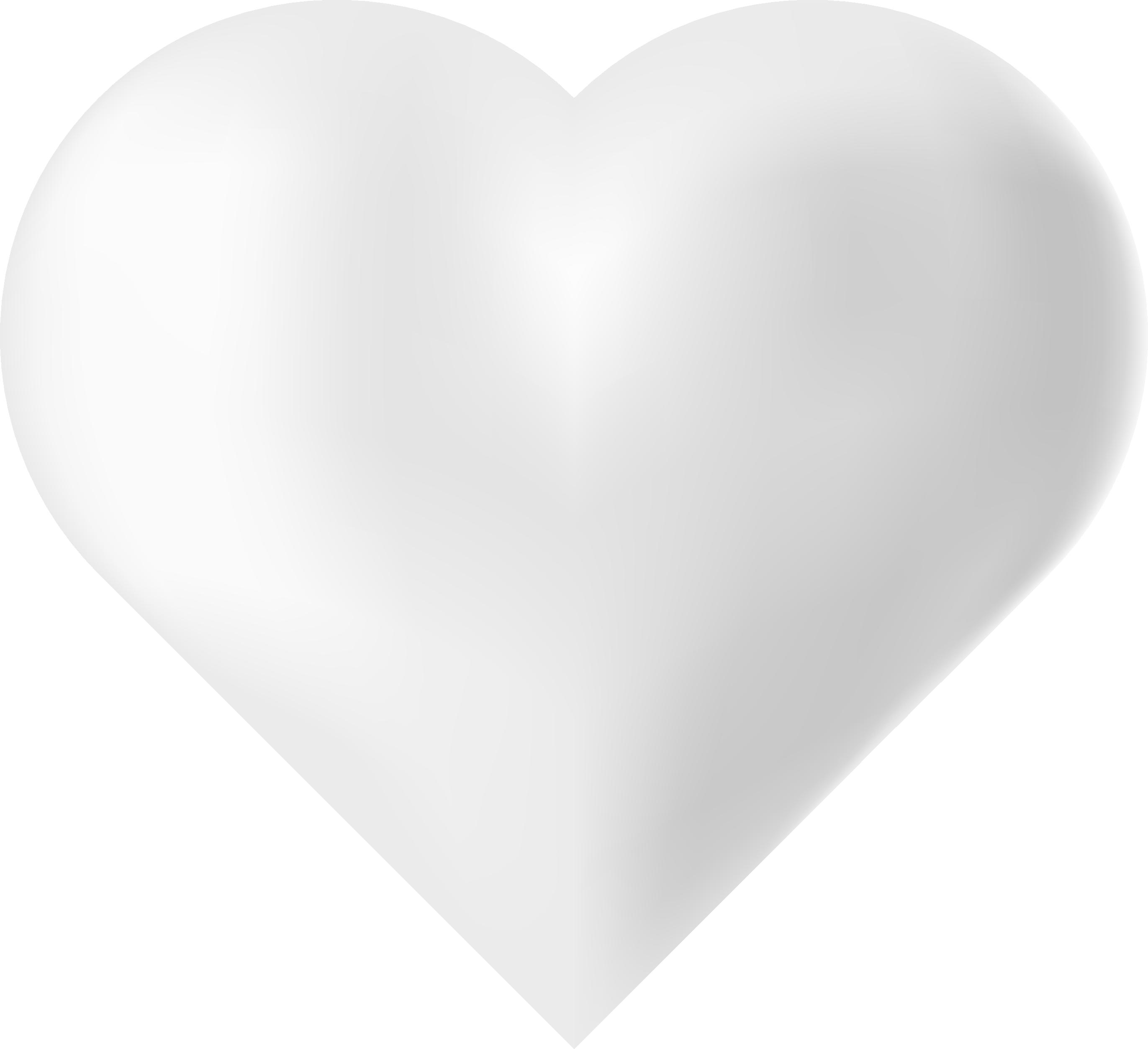 White Love Heart
